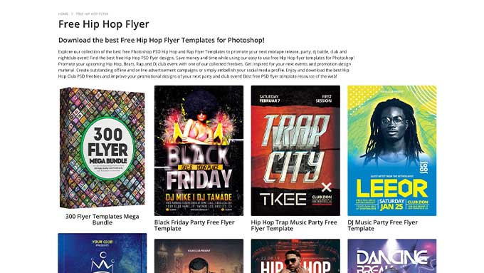 hip hop flyers for photoshop